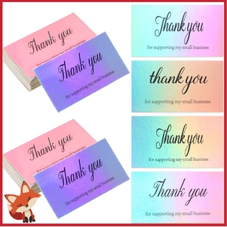 FAY 5 9cm Laser Appreciate Cards Reflective Online Retail Thank You For Supporting My Small Business Package Inserts Purchase Customer Shopping Gift Greeting Postcard thumbnail