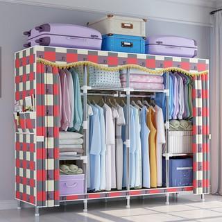 Tủ vải khung gỗ 3,4 ngăn có lót vải cỡ lớn loại 1 đựng quần áo loại 1 có lót