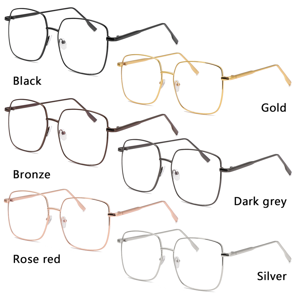 👒OSIER🍂 Improve Comfort Anti Blue Ray Glasses Radiation Protection Computer Gaming Eyewear Optical Spectacle Frames Ultralight Metal Frame Fashion Square...