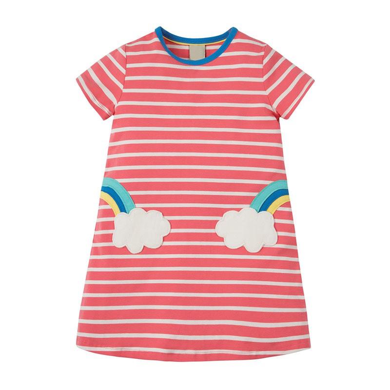 Váy cộc tay bé gái Little Maven váy mùa hè cao cấp phong cách Châu Âu đủ size 2-6T