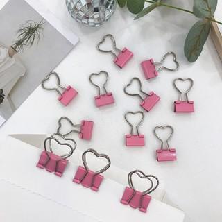 Kẹp giấy màu hồng hình trái tim (KGH01) thumbnail