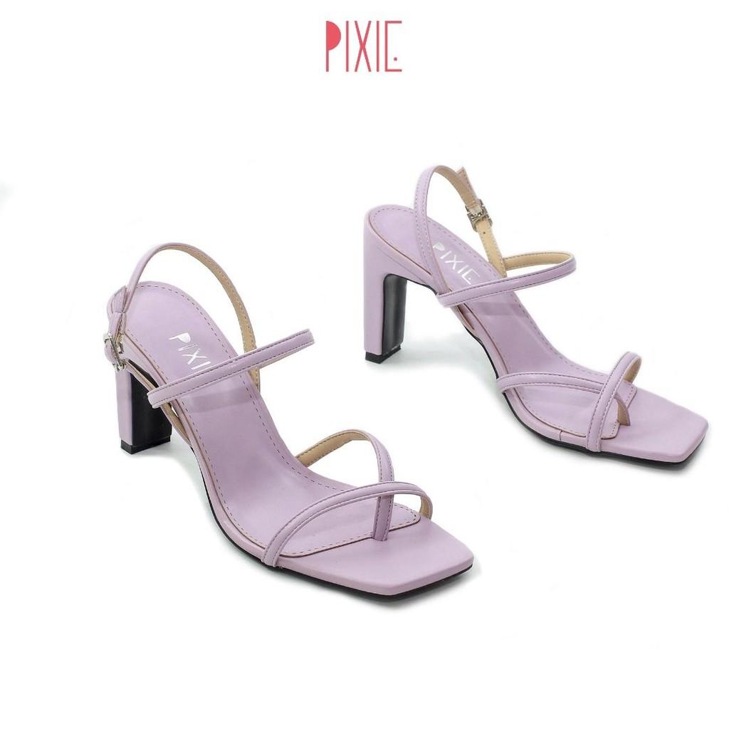 Giày Sandal Cao Gót Xỏ Ngón 9cm Pixie X560