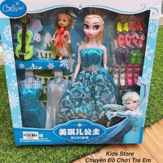 Bộ Đồ Chơi Búp Bê Elsa Thay Váy & Giày