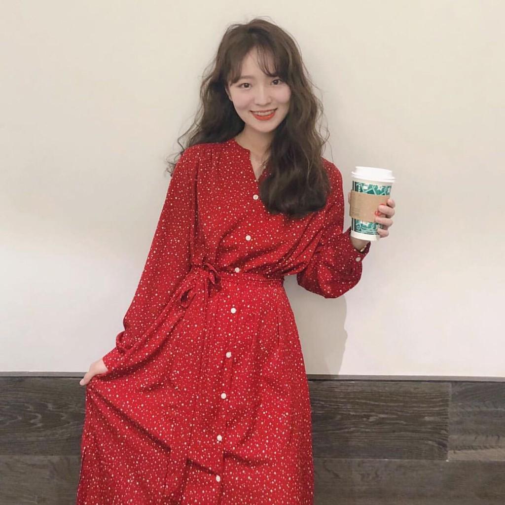 Váy đỏ dáng dài MORAN [ODER]