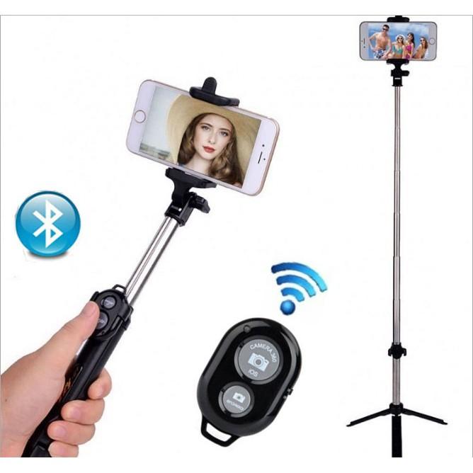 Gậy chụp ảnh Bluetooth có giá đỡ