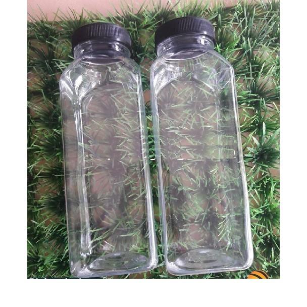 Chai Nhựa 330ml Miệng Rộng Dày Dặn Trong Suốt An Toàn Sức Khỏe ( Vuông - Tròn )