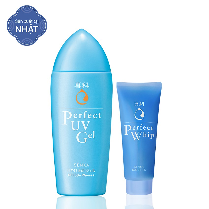 Bộ sản phẩm Senka Perfect chiết xuất tơ tằm trắng: Kem chống nắng dạng gel 80g + Sữa rửa mặt tạo bọt - 3195731 , 704686729 , 322_704686729 , 219000 , Bo-san-pham-Senka-Perfect-chiet-xuat-to-tam-trang-Kem-chong-nang-dang-gel-80g-Sua-rua-mat-tao-bot-322_704686729 , shopee.vn , Bộ sản phẩm Senka Perfect chiết xuất tơ tằm trắng: Kem chống nắng dạng gel 80
