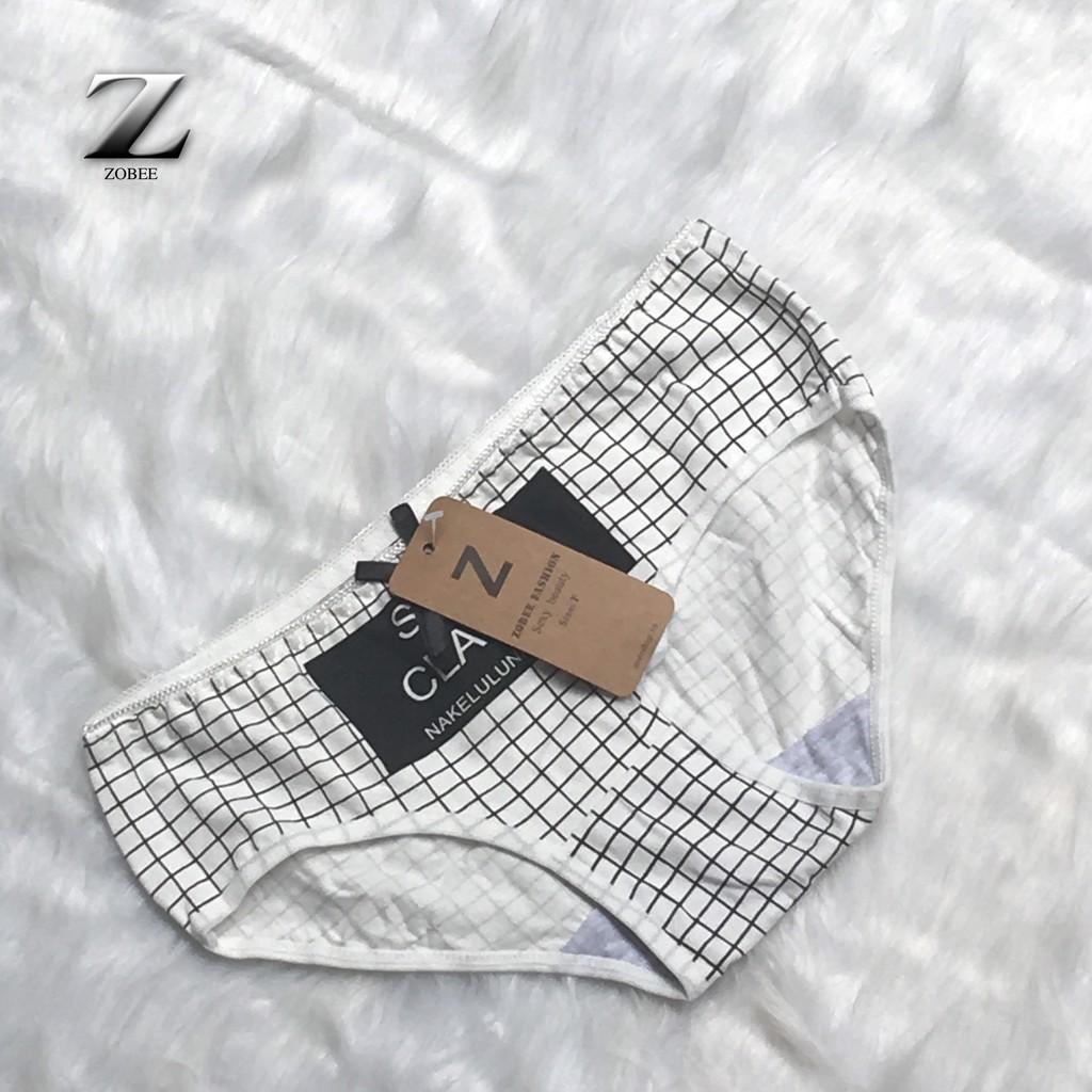 [Mã WA1211HOT giảm 12% đơn từ 99k] ZOBEE Combo 4 quần lót nữ cotton hàng đẹp
