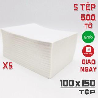 5 Tệp 2.500 Tờ Giấy A6 10x15cm in đơn shopee cho máy in TMĐT ABIT Q900 Rongta RP421, Q900, DT108B, XP470B, N41 100x150mm