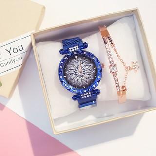 Đồng hồ thời trang nữ Candycat mặt hoa siêu đẹp dây lưới nam châm K756
