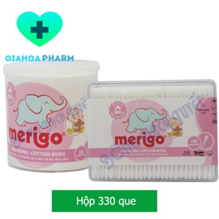 Tăm bông trẻ em Merigo (Bông Bạch Tuyết) - Hộp 330 que thumbnail