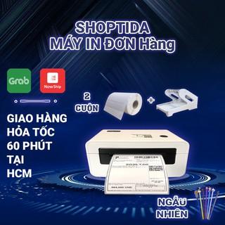 Máy in nhiệt Shoptida SP46 in đơn hàng TMĐT kèm khay và 2 cuộn tem nhiệt decal 35x22mm in tem barcode, minicode thumbnail