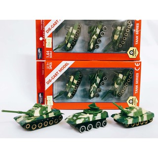 Bộ xe ô tô đồ chơi xe tăng, xe thiết giáp hợp kim cao cấp Die-Cast Model