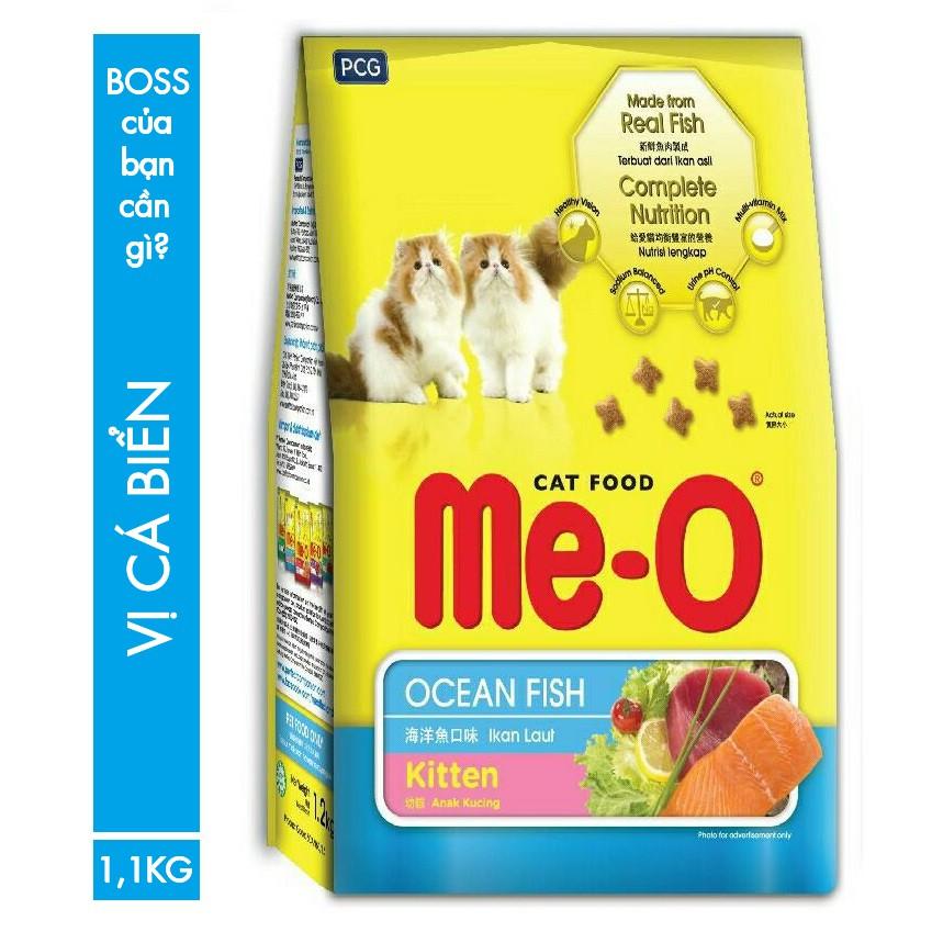 THỨC ĂN HẠT CHO MÈO CON 1,1KG MeO KITTEN OCEAN FISH