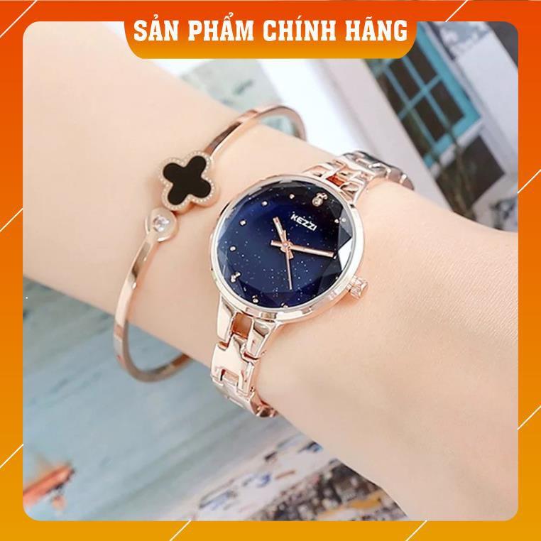 Đồng hồ nữ Kezzi kw1700 hàng chính hãng dây kim loại mặt kim tuyến
