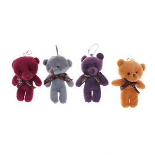 1PC 12cm Cute Mini Joint Bear Plush Toys Stuffed Dolls Pendant Gift Radom Color