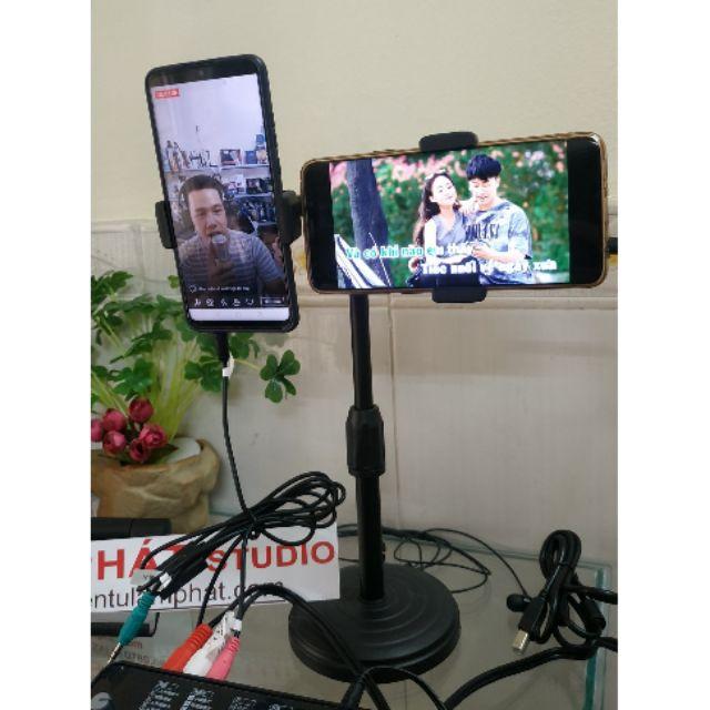 Giá Đỡ Điện Thoại Livestream 2 trong 1