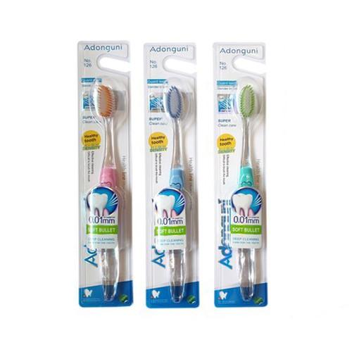Bàn chải đánh răng hoạt tính Hàn Quốc cao cấp đầu lông chỉ tơ Siêu Mỏng < 0,01mm