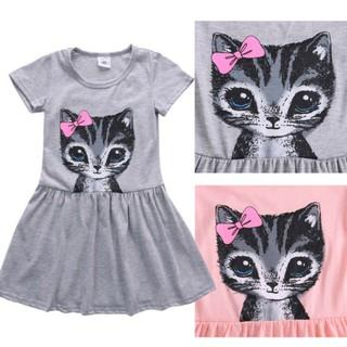 Kids Girls Dress Sleeveless Princess Party Summer Floral Tutu Dress