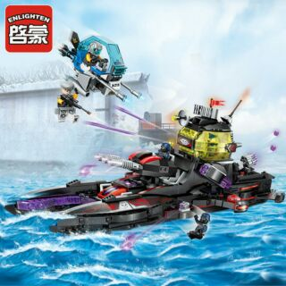 Bộ lắp ráp Enlighten 2719 mô hình Black Shark cruiser