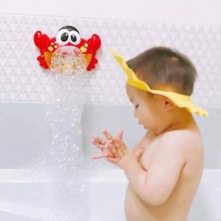 Đồ chơi con cua thổi bong bóng cho bé an toàn, giúp bé thích tắm SP001088