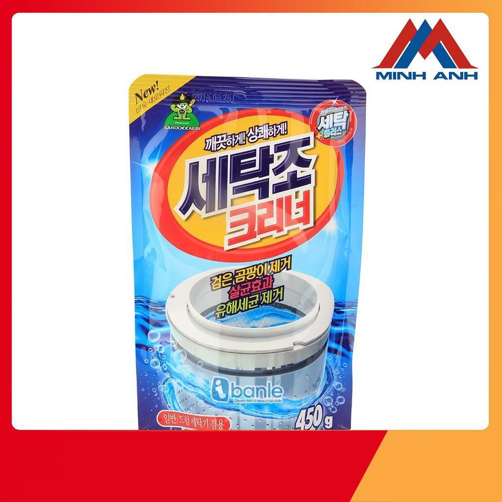 Bộ 2 Bột Vệ Sinh Lồng Máy Giặt Hàn Quốc 450g tiện dụng mã 01