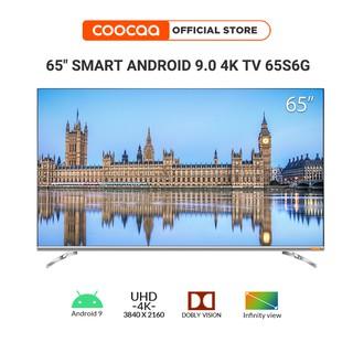 SMART TV 4K UHD Coocaa 65 inch - Android 9.0 TV- Wifi - viền mỏng - Model 65S6G - tivi giá rẻ Chân viền kim loại