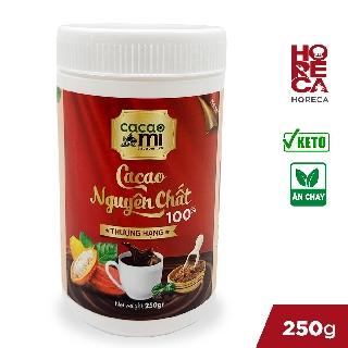 Bột cacao nguyên chất hoà tan CacaoMi hộp thượng hạng 250g