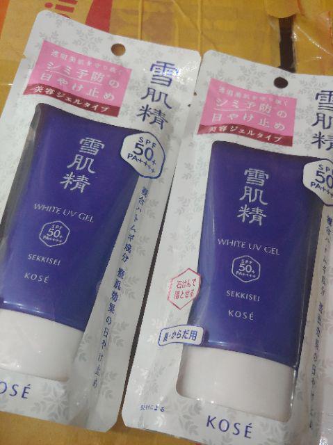 Đánh giá sản phẩm Kem chống nắng Kose Sekkisei UV White Gel 80g của lehuyenmybd