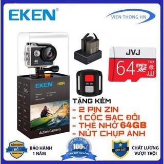 tặng thẻ nhớ 64gb Camera hành trình 4k Eken H9r bản mới V9 v8 v7 camera wifi xe ma y oto phươ t chô ng nươ c chống rung thumbnail