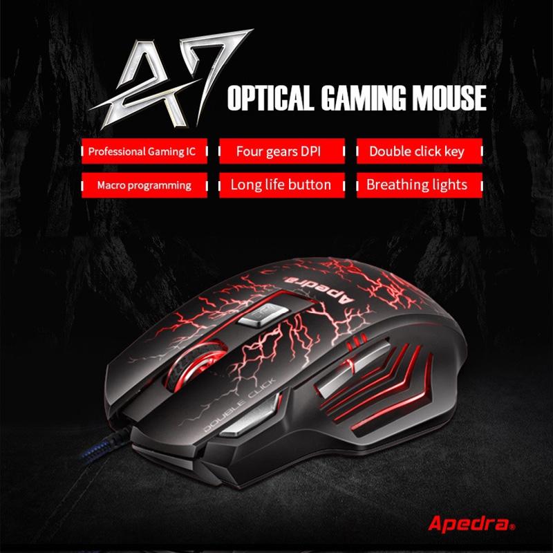 Chuột Quang Gaming Apedra A7 Có Dây Chất Lượng Cao