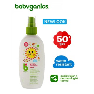 [DATE 2021] Xịt chống nắng cho bé Babyganics Mineral-Based Baby Sunscreen SPF 50 thumbnail