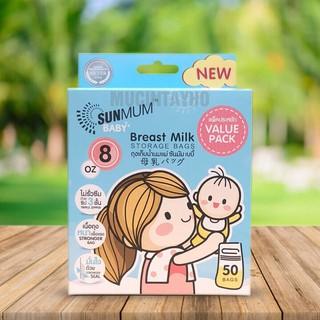 [250ml] Túi trữ sữa SUNMUM khoá 3 lớp chắc chắn.