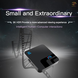 Bộ Tv Box H6 Android 9.0 Allwinner H6 Uhd 4k Media Player 6k Hdr 2gb / 16gb 2.4g Wifi 100m Lan Usb3.0 H.265 Vp9
