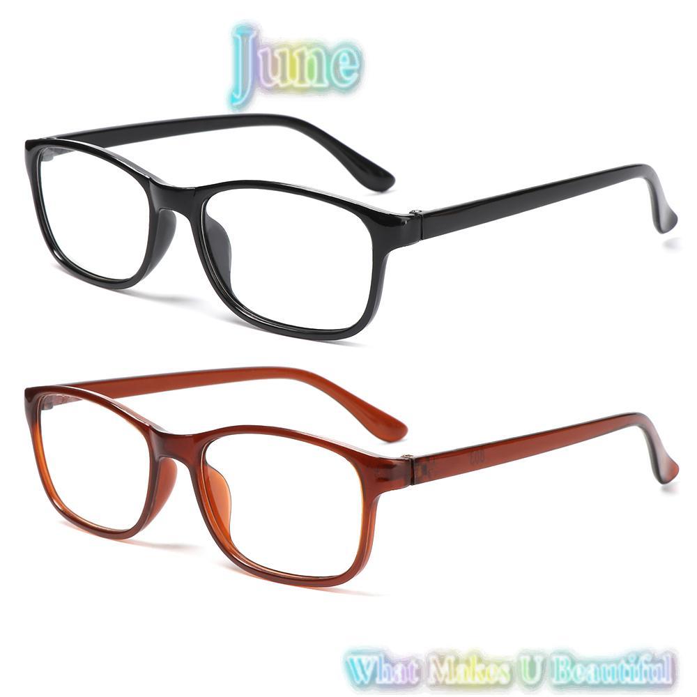 JUNE Women Presbyopia Eyewear Elderly Accessories Vision Care Reading Glasses +1.00~+4.0 Diopter Ultra Light Resin Lightweight Men Eyeglasses/Multicolor
