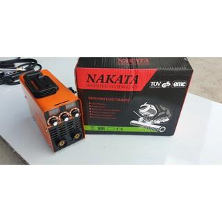 Máy hàn que mini NAKATA ARC 250A 6 tụ, hàn que 3.2 ly, máy nhỏ gọn, tiết kiệm điện, tặng mo hàn, búa gõ xỉ bảo hàn thumbnail