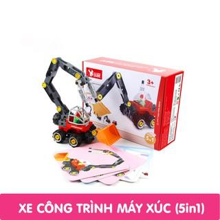 Bộ đồ chơi xếp hình cho trẻ em - Xe công trình máy xúc thumbnail