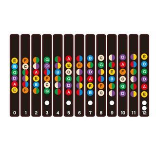 Colorful Guitar Fretboard Note Decal Beginners Fingerboard Sticker Label Map