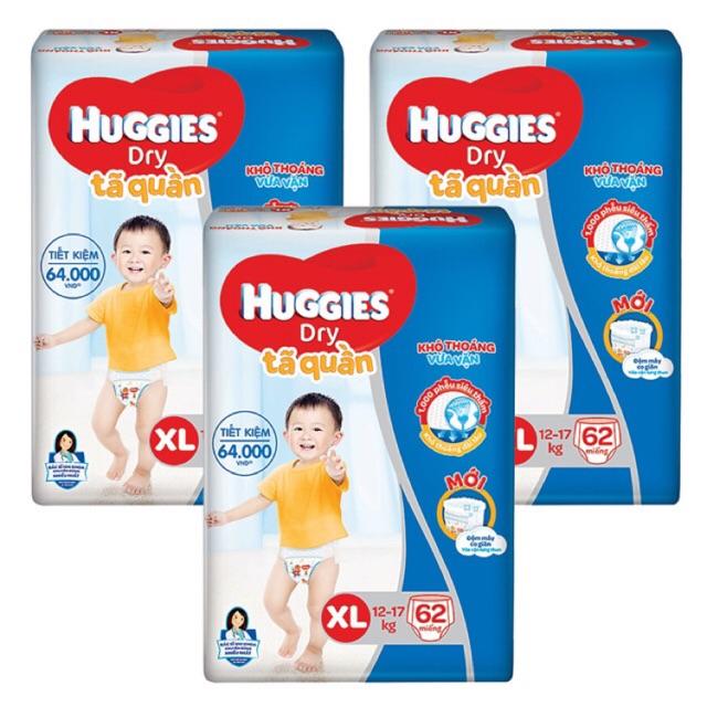 [Thanh lý] Tã quần Huggies Dry L68 / XL62 / XXL56