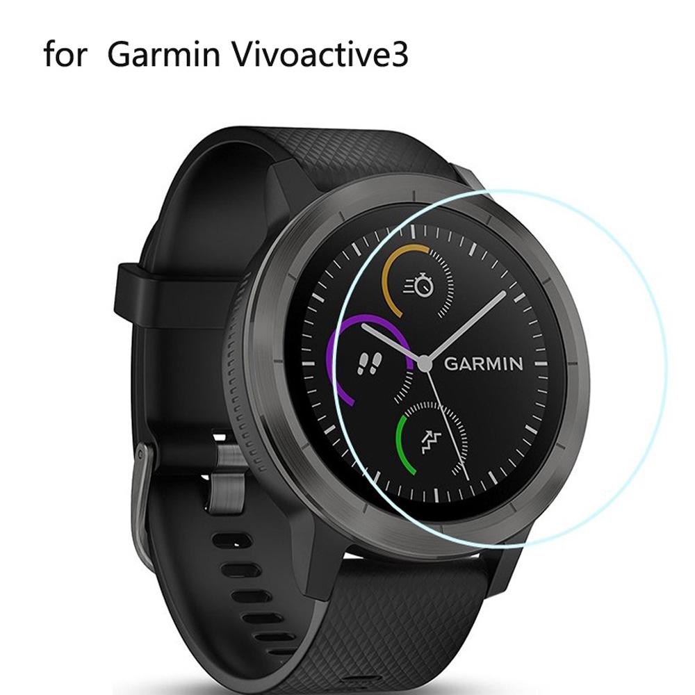 Set 3 miếng dán cường lực 9H HD 2.5D chuyên dụng cho đồng hồ Garmin Vivoactive 3
