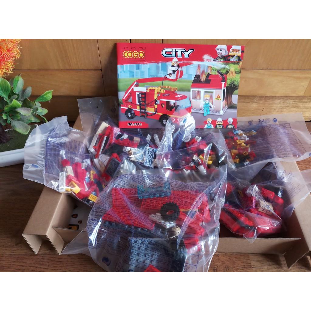 W084546 - 328PCS - Đồ chơi Lego xếp hình đội cứu hỏa 4174