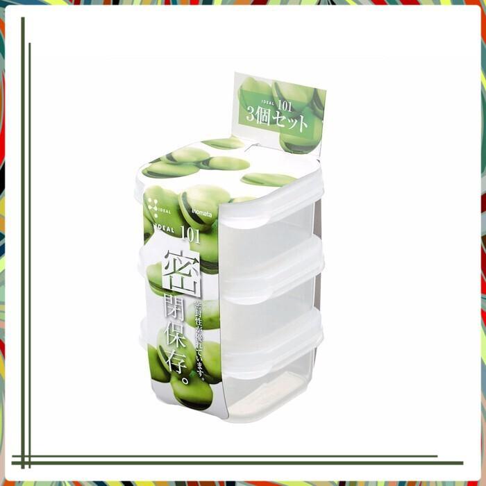 [Siêu _Ưu _Đãi] Bộ 3 hộp nhựa chữ nhật dung tích 190ml