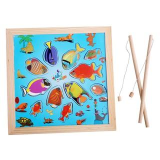 Đồ chơi gỗ an toàn cho bé – Bộ Đồ Chơi Câu Cá Bằng Gỗ