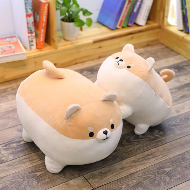Gấu bông chó Shiba mập lùn khó ưa- Siêu mềm mịn thú nhồi bông