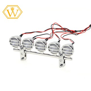【W】G.T.POWER 4 or 5 Spotlight Electroplate Silver for 1/10 RC Crawlers