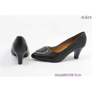 Aliza - Giày công sở da bò gót trụ 5cm 68670B thumbnail
