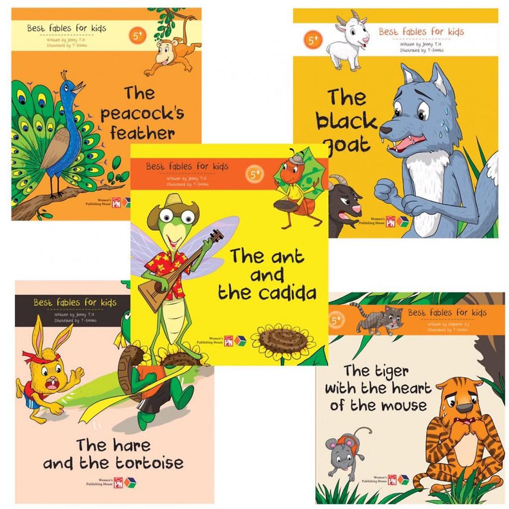 SÁCH - Combo 5 cuốn truyện ngụ ngôn bằng tiếng anh ( Best fables for kids )