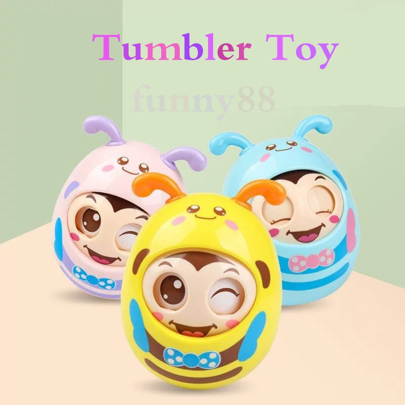 Little bee tumbler baby toy