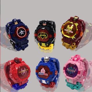 Đồng hồ điện tử biến hình rô bốt dành cho các bé