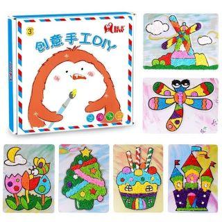 Set tô màu bằng giấy nhún sáng tạo cho bé